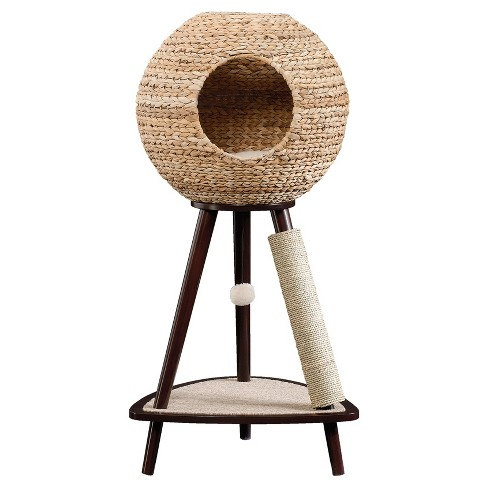 Sauder Natural Sphere Cat Tower Brown Target