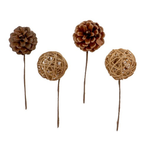 16ct Holiday Accessory Vine Ball/Pinecones - Wondershop™ - image 1 of 2
