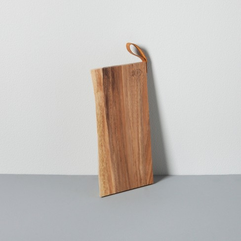 Live-Edge Acacia Cutting Board with Genuine Leather Handle Small - Hearth & Hand™ with Magnolia - image 1 of 6