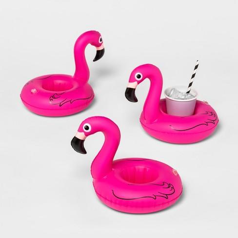 Flamingo Beverage Boats Pink 3pk - Sun Squad™ - image 1 of 3