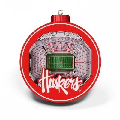 NCAA Nebraska Cornhuskers 3D Stadium View Ornament