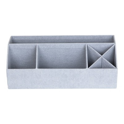 Elisa Canvas Desk Organizer Ash - Bigso Box of Sweden
