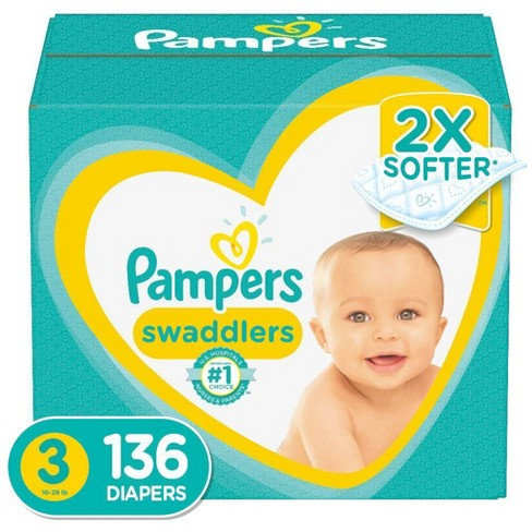 Pampers Swaddlers Disposable Diapers Enormous Pack - Size 3 (136ct ) - image 1 of 4