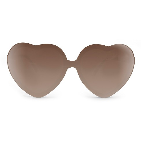 Women's Rimless Heart Sunglasses - Black - image 1 of 3