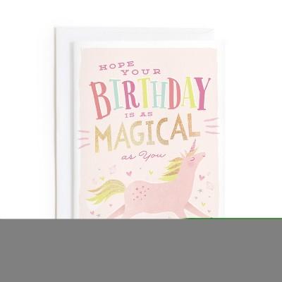 Minted Magical Unicorn Card