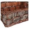 Household Essentials Birch Bark Decorative Wicker Basket Brown - image 3 of 3