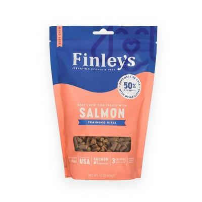 Finley's Salmon Soft Trainer Bite Dog Treats - 16oz