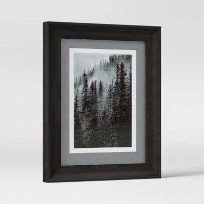 "5"" x 7"" Double Matted Table Frame Dark Brown - Threshold™"