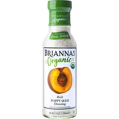 Briannas Organic Rich Poppy Seed Dressing - 10fl oz