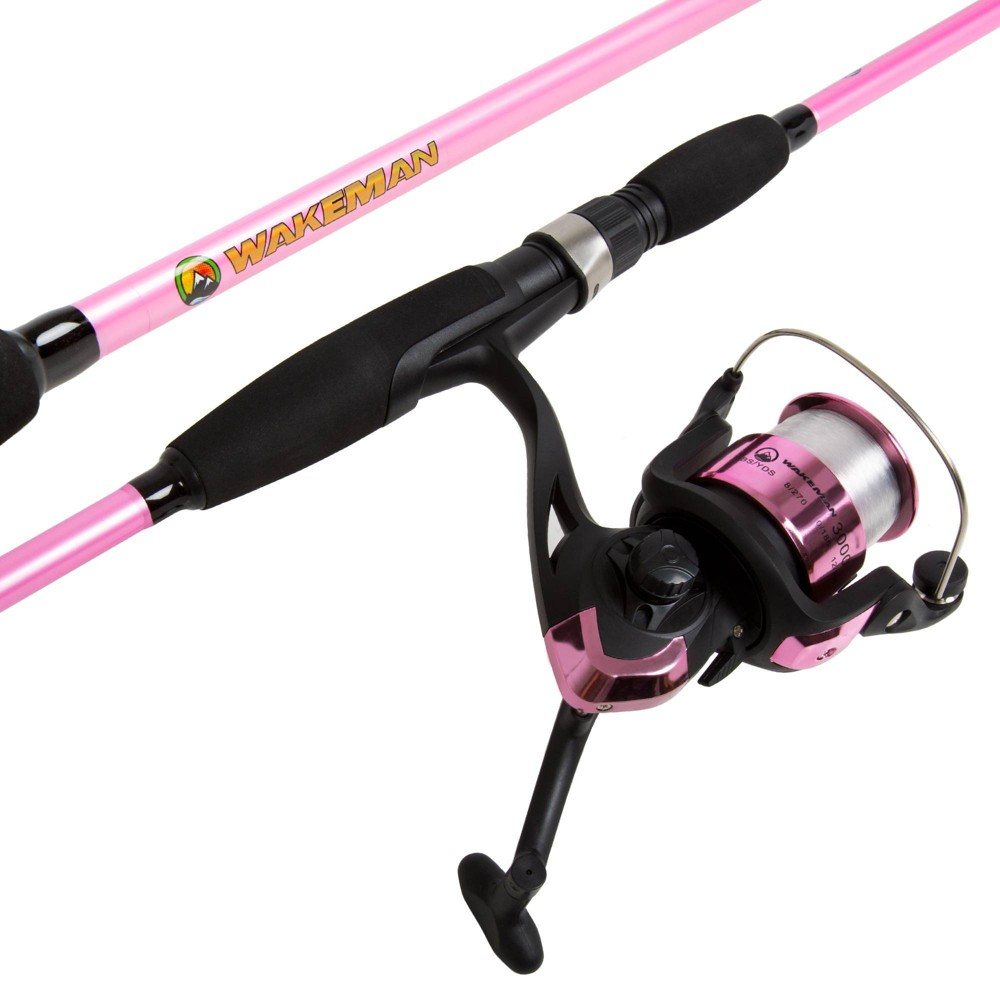 Wakeman Fishing Rod and Reel Combo - Pink