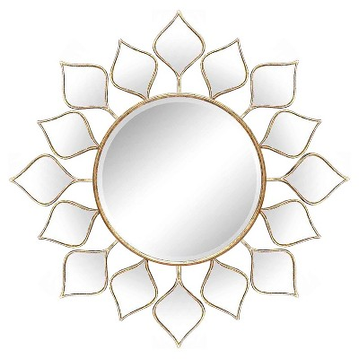 Metal Wall Mirror - Gold - Home Source