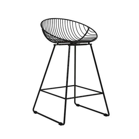 Miraculous Ellis Wire Counter Stool Cosmoliving By Cosmopolitan Creativecarmelina Interior Chair Design Creativecarmelinacom
