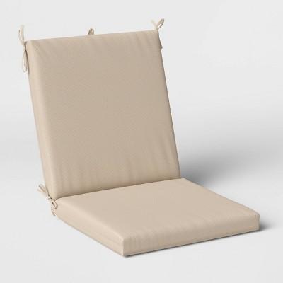 Woven Outdoor Chair Cushion DuraSeason Fabric™ Tan - Threshold™