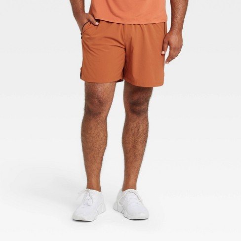 Men's Stretch Woven Shorts - All in Motion™ Rust  - image 1 of 4