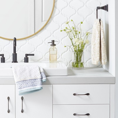 Clean & Classic Powder Room with Accent Wall Collection - Threshold™