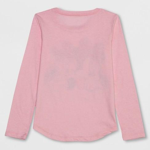 10ed77dac Girls' Disney Minnie Mouse Besties Long Sleeve T-Shirt - Light Pink : Target