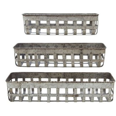 Iron Open Weave Baskets - 3R Studios