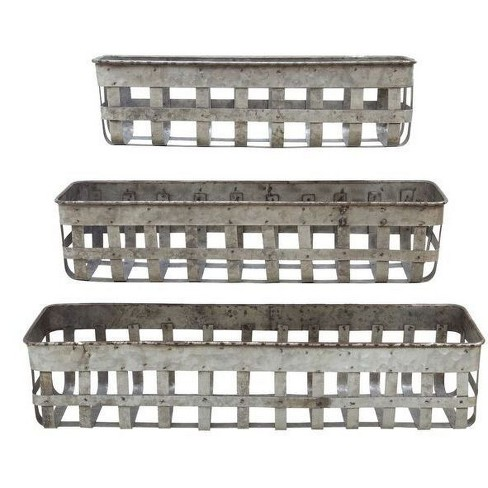 Iron Open Weave Baskets - 3R Studios - image 1 of 1