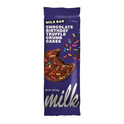 Milk Bar Truffle Crumb Cake Chocolate Birthday - 2.33oz/2ct