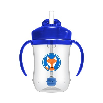 Dr. Brown's Milestones Baby's First Straw Cup - Blue