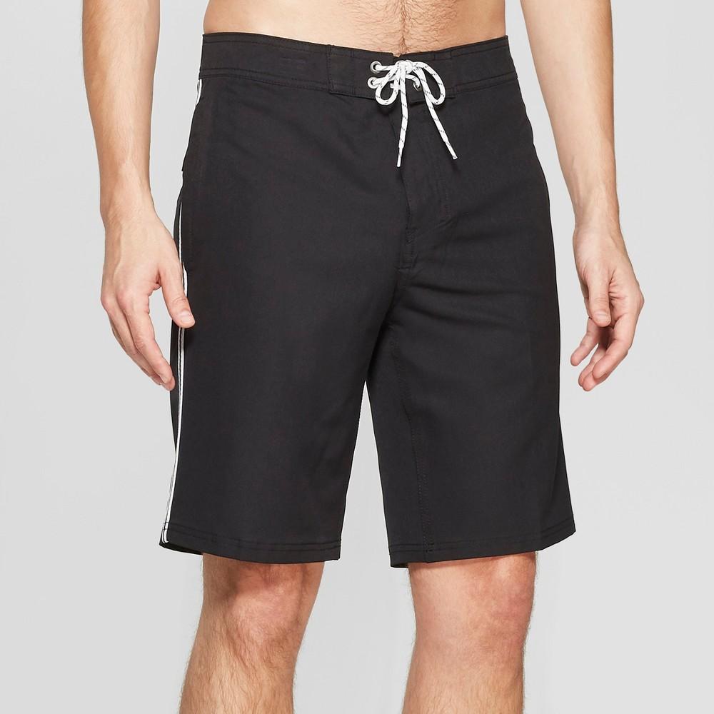 Men's 10 Taped Board Shorts - Goodfellow & Co Black 33