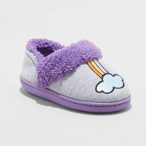 Toddler Girl Saige Rainbow Slipper - Cat & Jack™ Purple - image 1 of 4