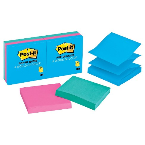 Post It Ultra Pop Up Note Refills 3 X Multi Colored 100 Sheet Pads Per Pack Target