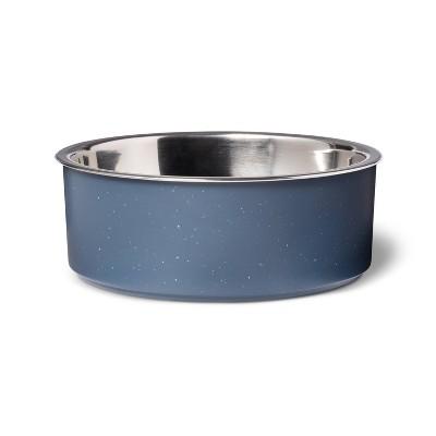Medum Speckle Mealamine Dog Bowl - Blue - 28oz - Boots & Barkley™
