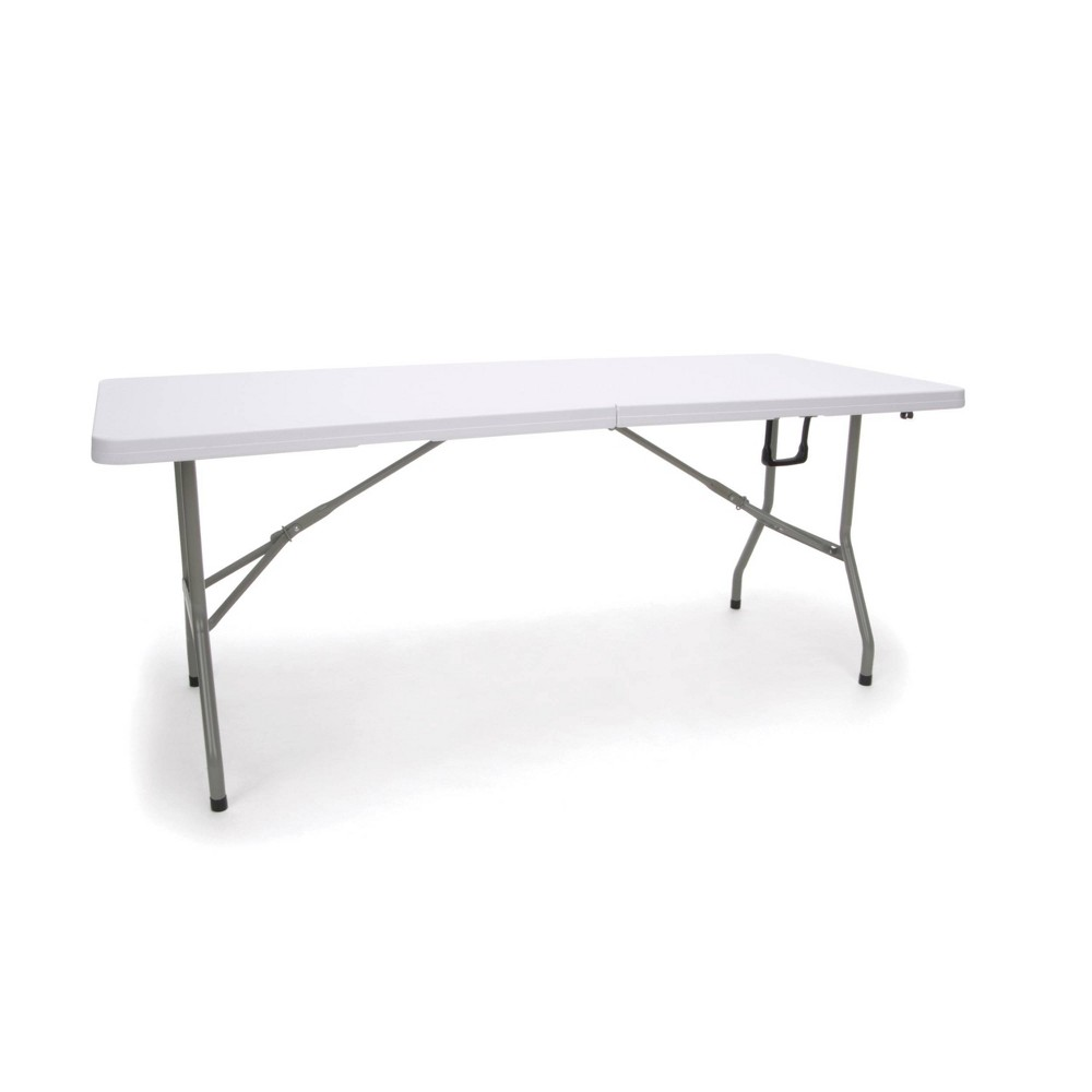 Image of 6' Essentials Collection Folding Utility Table White - OFM, White Gray