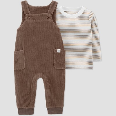 Baby Boys' 2pc Velour Top & Bottom Set - Just One You® made by carter's Brown Newborn