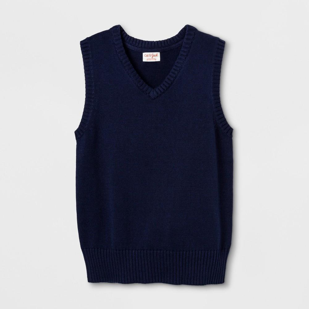 Image of Boys' Uniform Sweater Vest - Cat & Jack Navy L, Boy's, Size: Large, Blue