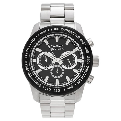 Men's Invicta 21796 Speedway Quartz Chronograph Black Dial Link Watch - Silver - image 1 of 3