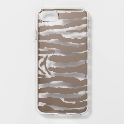 best loved f951f 62d5b heyday™ Apple iPhone 8/7/6s/6 Clear Zebra Print Case - Gold