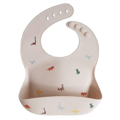 Mushie Silicone Baby Bib - Dinosaur