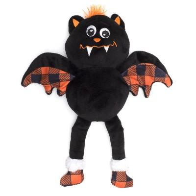 The Worthy Dog Buffalo Bat Toy - Black - One Size
