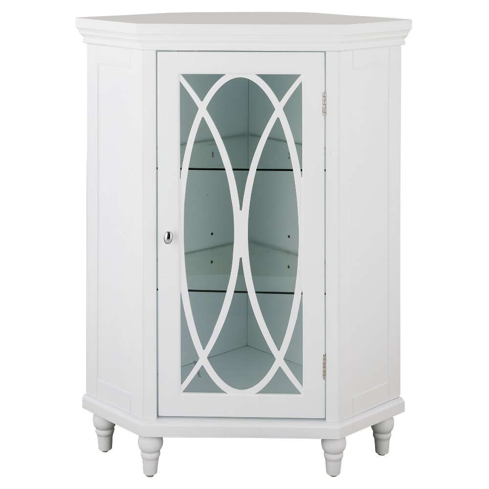 Laurel Corner Floor Cabinet 24 White - Elegant Home Fashions
