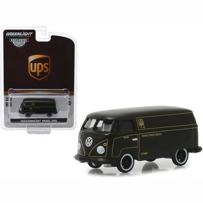 "Volkswagen Panel Van Dark Brown ""United Parcel Service"" (UPS) ""Hobby Exclusive"" 1/64 Diecast Model Car by Greenlight"