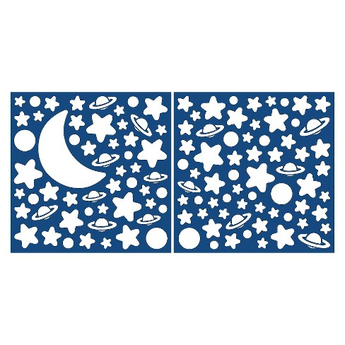 WallPops!® Glow in the Dark Moon & Stars Decals - Ivory - image 1 of 1