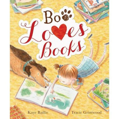 Boo Loves Books - (New Frontier Titles) by  Kaye Baillie (Hardcover)