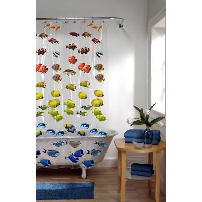 Assorted Fish PEVA Shower Curtain - Zenna Home