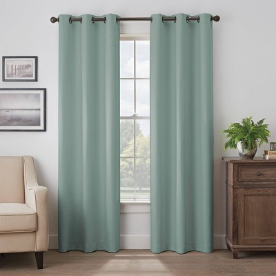 Martina Solid Absolute Zero 100% Blackout Window Panel - Eclipse