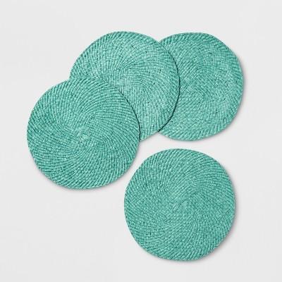 4pk Woven Placemat Aqua - Opalhouse™