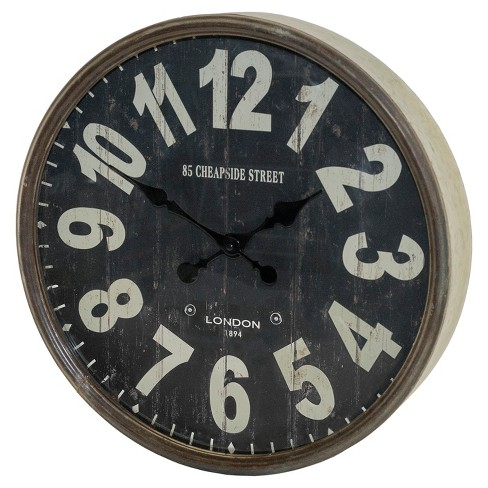 Metal Clock Black - VIP Home & Garden - image 1 of 2