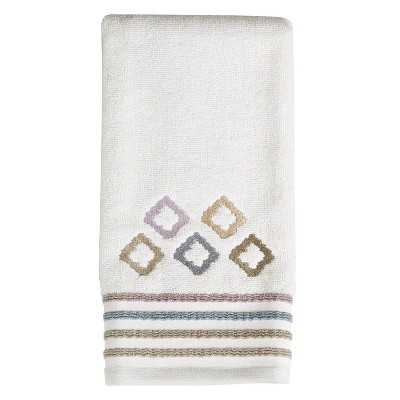 Davidson Embroidered Hand Towel Off-White - Saturday Knight Ltd.