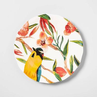 8.9  Melamine Bird Print Dinner Plate - Opalhouse™