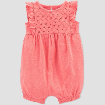 Baby Girls' Eyelet Romper - Just One You® made by carter's Pink