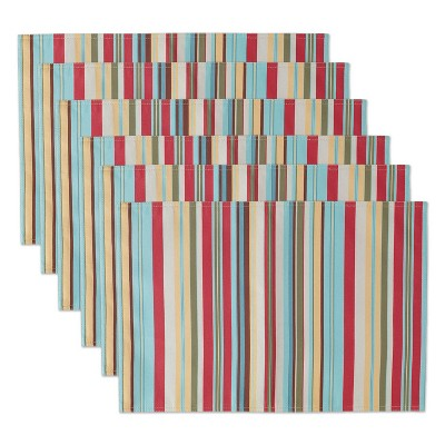 Set of 6 Summer Stripe Placemat - Design Imports