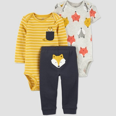 Baby Boys' Fox Top & Bottom Set - Just One You® made by carter's Orange 6M
