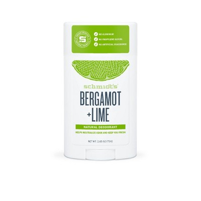 Schmidt's Bergamot + Lime Natural Deodorant - 2.65oz