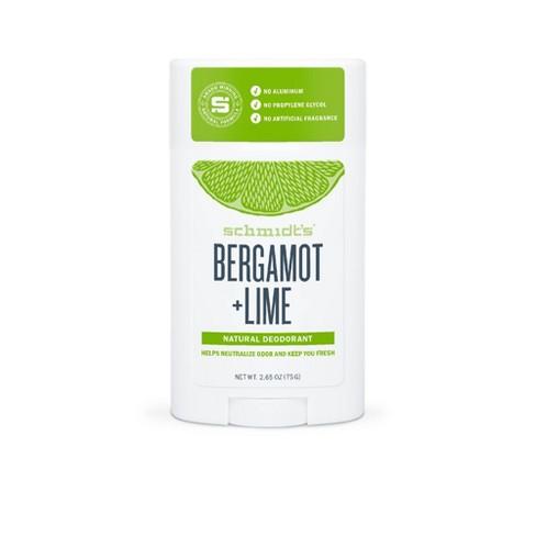 Schmidt's Bergamot + Lime Aluminum-Free Natural Deodorant Stick - 2.65oz - image 1 of 4